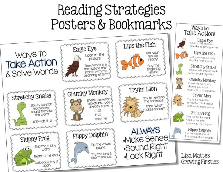 Reading Strategy Posters & Bookmarks - FREEBIE - Ink Friendly