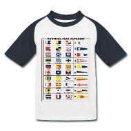 Magliette ~ Maglietta da baseball per bambini ~ Maglietta baseball da bambino - Alfabeto Bandiere Nautiche