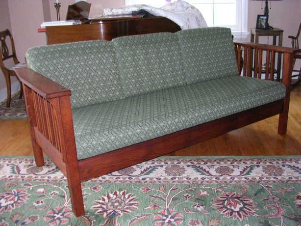 Custom Built Mission Style Sofa