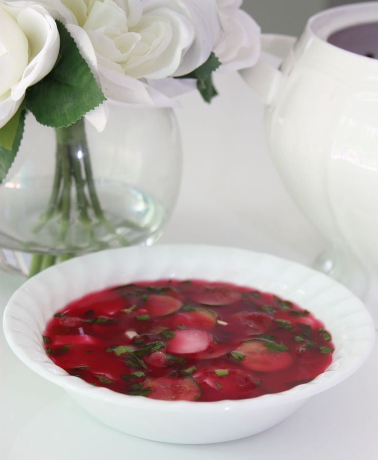 Cold Beetroot Soup. There is nothing better on a hot day...http://www.gourmeteasybyoksana.com/soups/#/coldbeetroot/