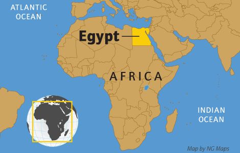 Without the Nile River, all of Egypt would be desert. Only about an inch (2.5 centimeters) of rain falls throughout Egypt each year. But each summer, the river rises because of rains at its source far to the south in Ethiopia. Floods cover the river's valleys, leaving sediments needed for trees, plants, and crops to grow.