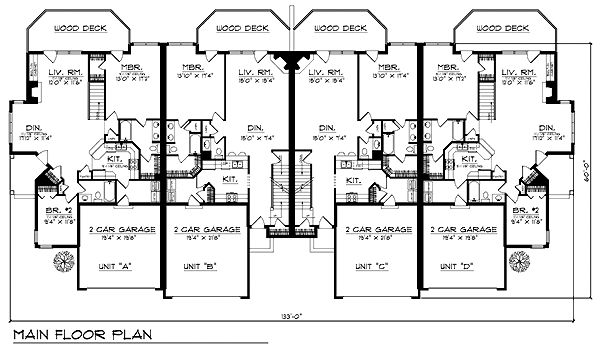 Traditional Multi-Family Plan 73467