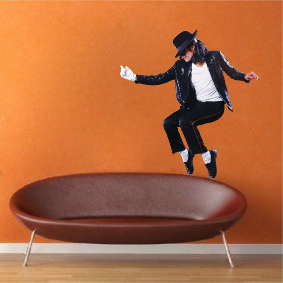 Michael Jackson Decal King of Pop Wall Decal by PrimeDecal on Etsy