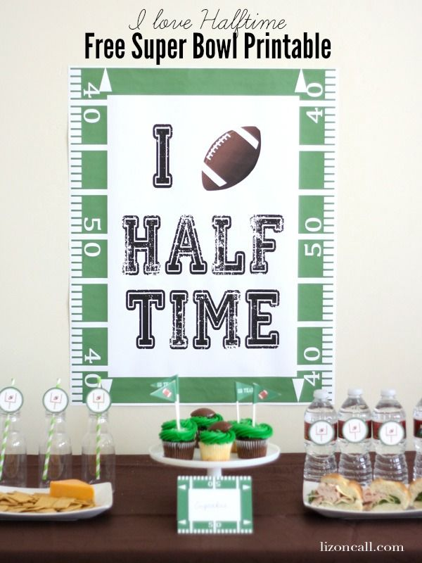 Free Super Bowl Party Printable - I love Halftime - lizoncall.com