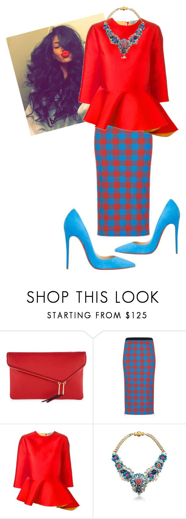 """Untitled #504"" by cogic-fashion ❤ liked on Polyvore featuring Henri Bendel, House of Holland, Preen, SHOUROUK and Christian Louboutin"