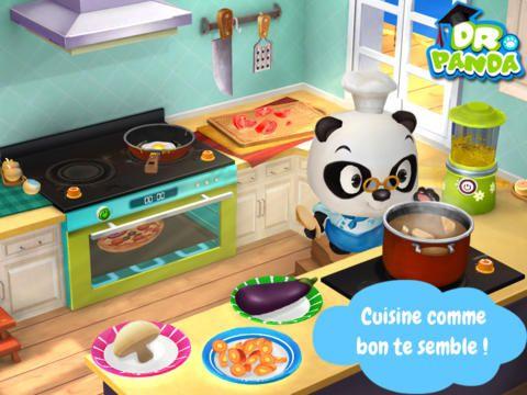 application enfant ipad dr panda restaurant 2 cuisine