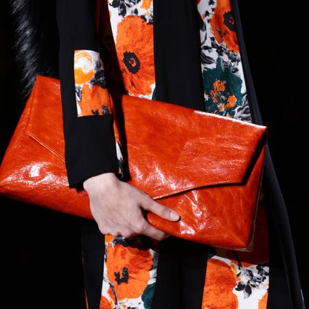Red Oversized Clutch March 2017