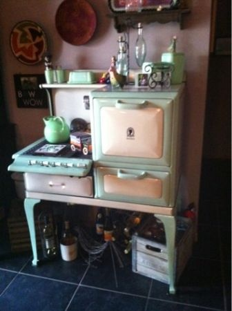 Love it. Super Maid antique stove circa 1923-1929