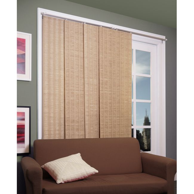 Chicology adjustable sliding panel beach natural woven for Sliding glass doors 96 x 96