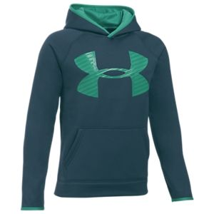 Under Armour Storm Armour Fleece Big Logo Hoodie for Boys - Nova Teal/Geode Green - XL