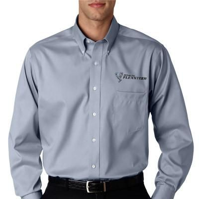 11 best van heusen clothing embroidered oxford dress for Company shirts with logo no minimum