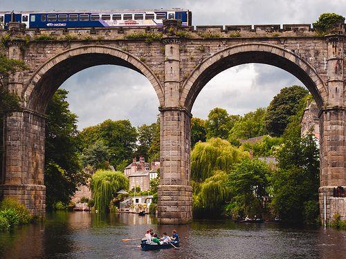 Knaresborough Viaduct, North Yorkshire, UK