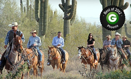 Groupon - Two-Hour Horseback Trail Ride for One or Two at Macdonald Ranch (Up to 54% Off). Groupon deal price: $35.00