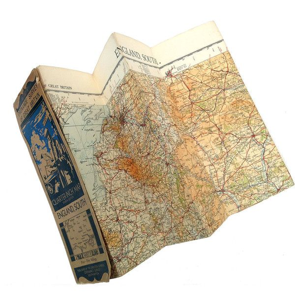 Vintage map of the South of England, Ordinance Survey Map Of South... ($9.75) ❤ liked on Polyvore featuring home, home decor, stationery, fillers, maps, other, accessories, items, phrase and quotes
