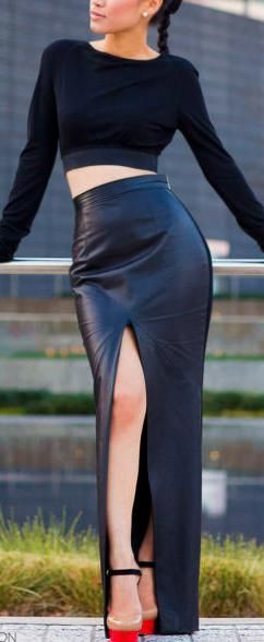 Leather Skirt love it