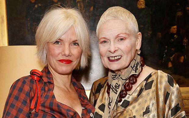 Vivienne Westwood with fashion model Sara Stockbridge last year