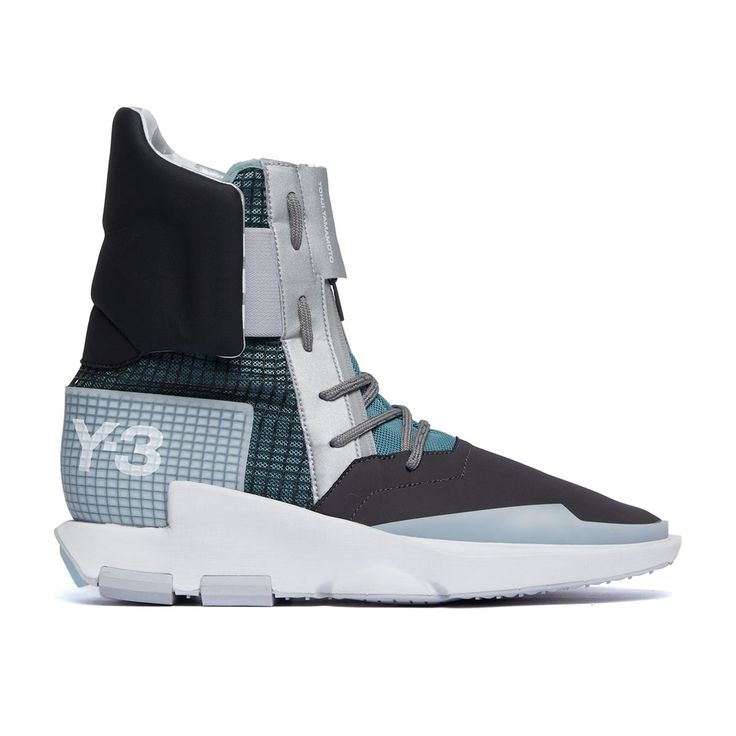 Noci High sneakers from the S/S2017 Y-3 by Yohji Yamamoto collection in silver met