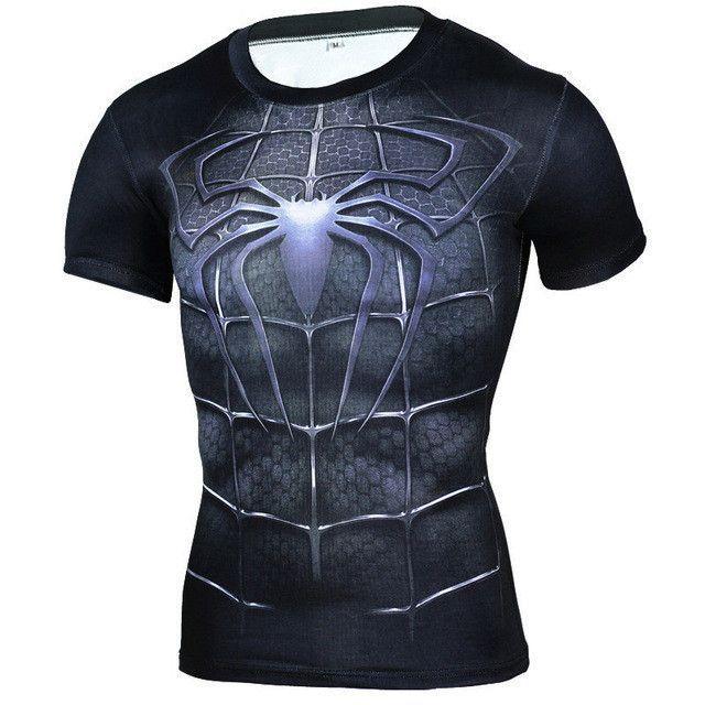 New Fitness Compression Shirt Men Anime Superhero Punisher Skull Batman Superman 3D T Shirt Bodybuilding Crossfit tshirt