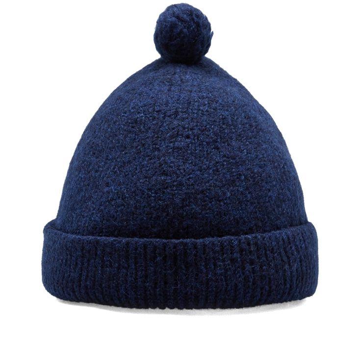 Nigel Cabourn Solid Pom Pom Hat (Blue)