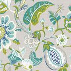 Gray Sketched Floral Fabric - Modern - Upholstery Fabric - by Loom Decor
