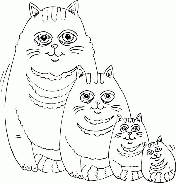 1000 images about coloring cats on pinterest coloring for Fat cat coloring pages