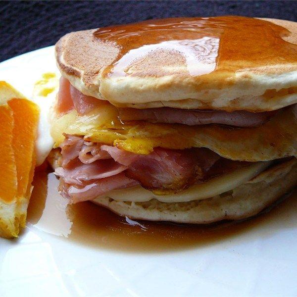 "Leftover Pancake Breakfast Sandwich | ""Ha!! No more going ..."