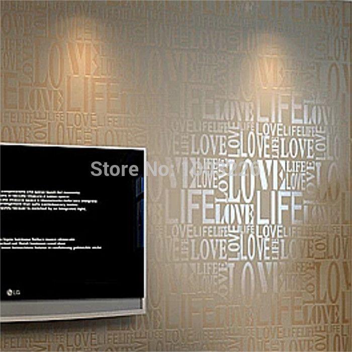 3d росписи обоев стадо слова текстурированные буквы обои тиснением стены бумажные обои papel де parede 3d papel parede