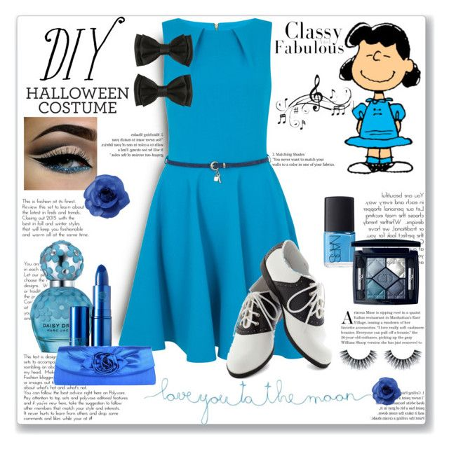 """""""Lucy Van Pelt: Diy Halloween Costume (Contest Entry)"""" by constancejaurora ❤ liked on Polyvore featuring Closet, Natural Life, Marc Jacobs, NARS Cosmetics, Christian Dior, Lipstick Queen, Music Notes, Chanel, halloweencostume and DIYHalloween"""