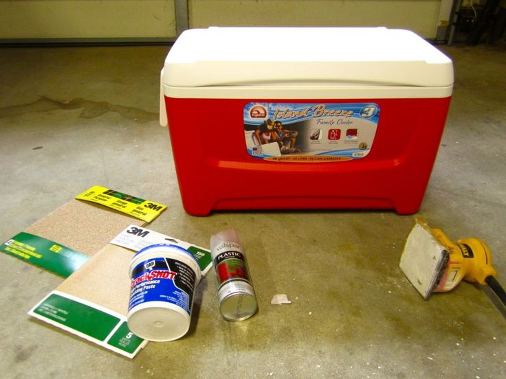 Step by Step Incredibly Detailed Instructions for Painting a Scratch-Proof, Personalized Cooler