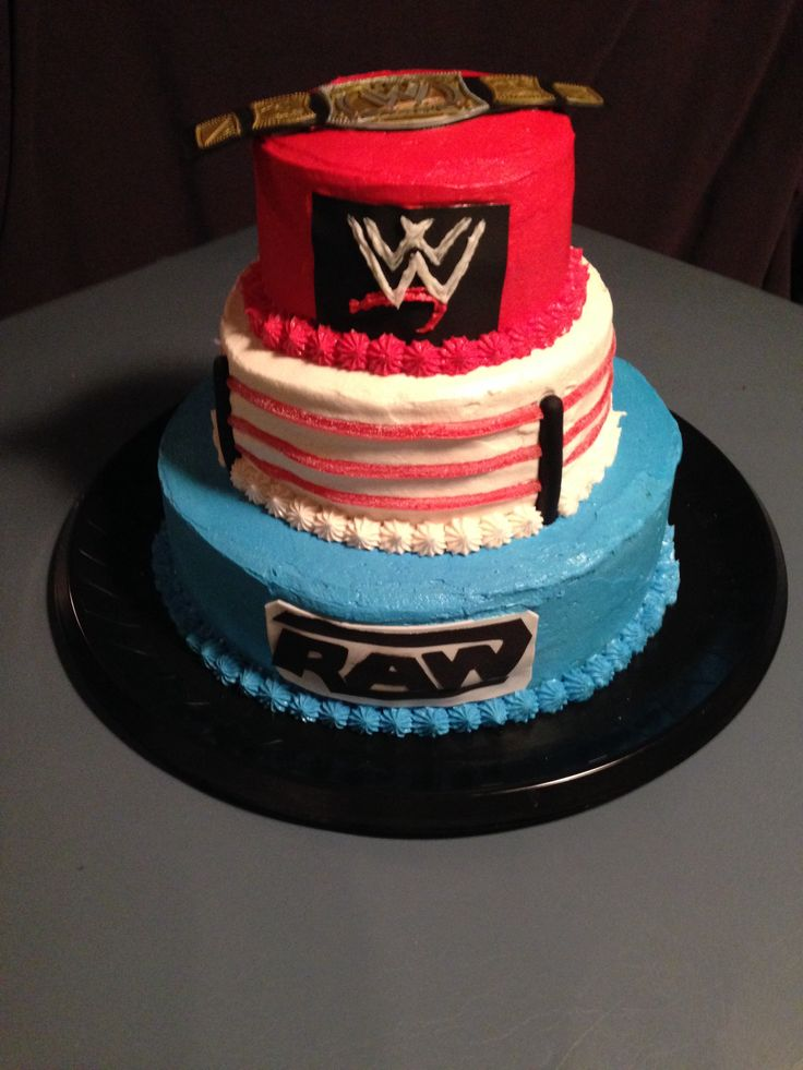Best 25 Wrestling Birthday Cakes Ideas On Pinterest Wwe