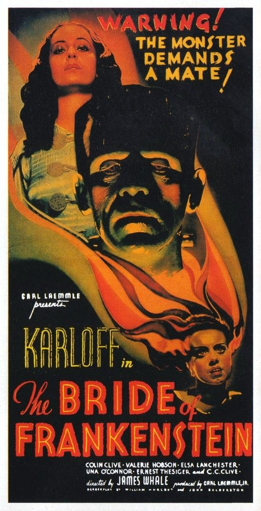 The Bride of #Frankenstein boris #karloff #horror