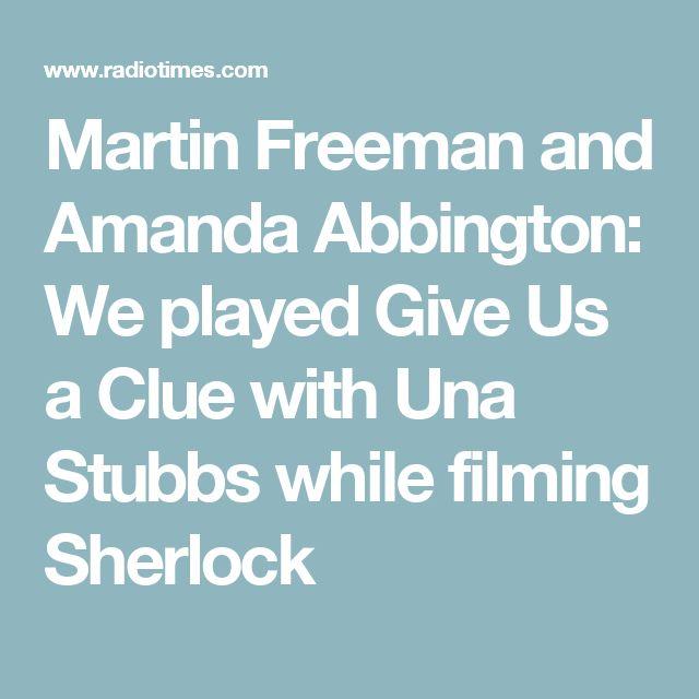 Martin Freeman and Amanda Abbington: We played Give Us a Clue with Una Stubbs while filming Sherlock
