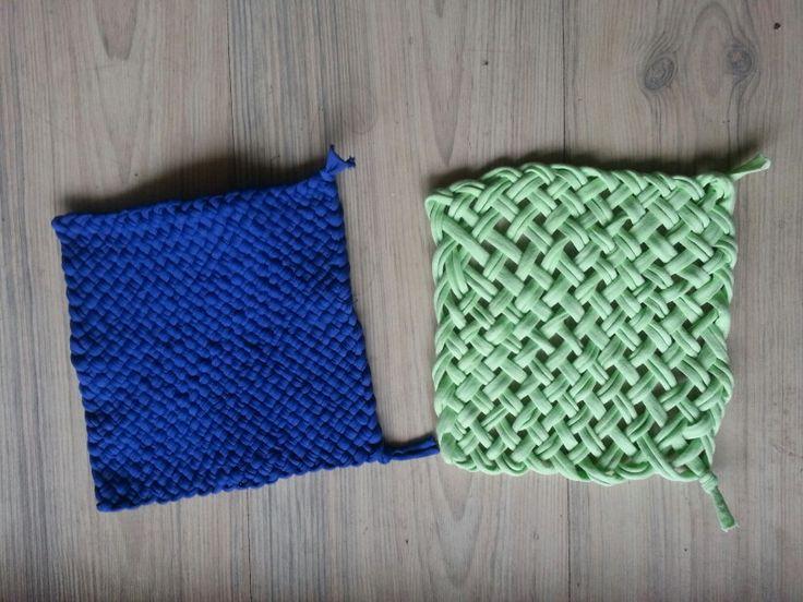 Mi primer tejido con telar cuadrado