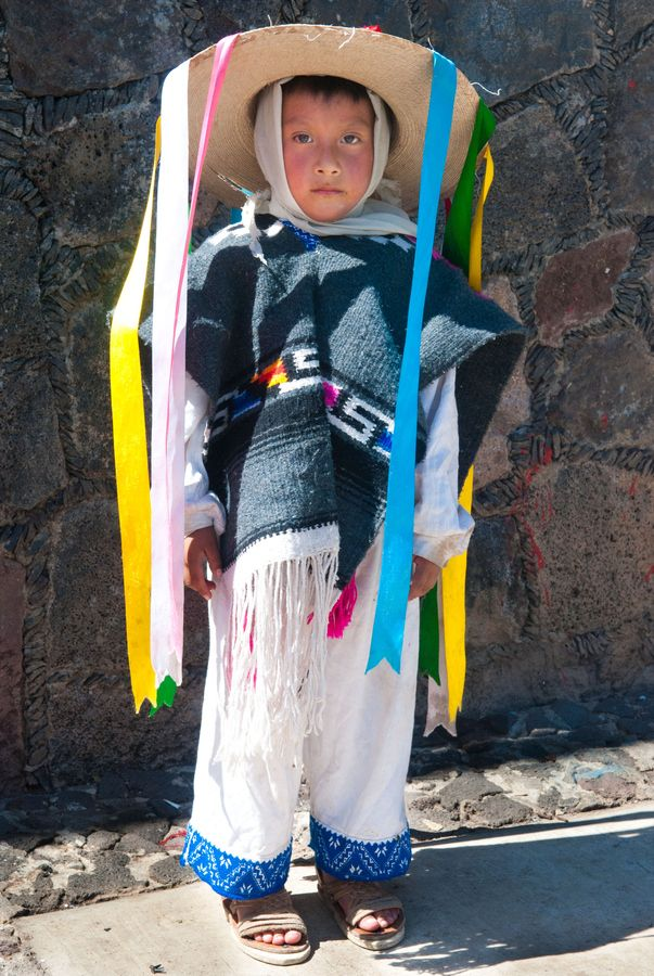 Purepecha child - indigenous peoples in Michoacan, Mexico.