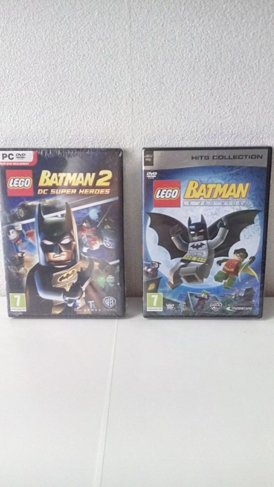 Lego batman le jeu vidéo + Lego Batman 2 DC super Heroes - PC - NEUF