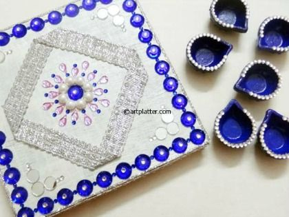 DIY Diwali Diya Platter