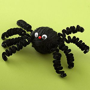 Halloween Party Activities & Crafts: Yarn-Wrapped Spider (via Parents.com)