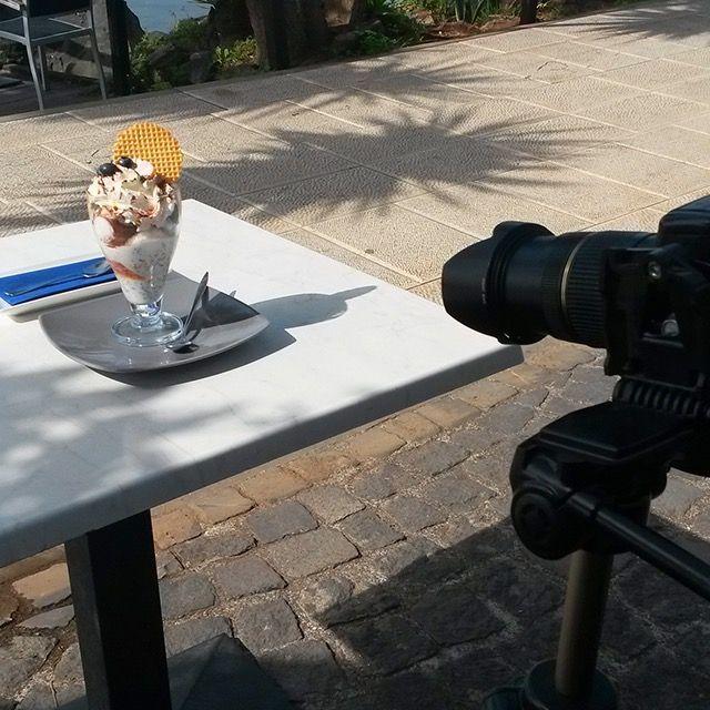 Backstage, servizio fotografico: protagonista Piatto Saturnia serie Tokio.