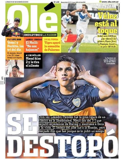 Boca 3 - Racing 1 /// Ole | Diario Deportivo