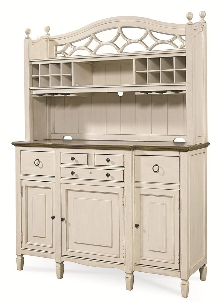 Summer Hill 2 Pc Serving Buffet And Bar Hutch With Wine Storage Dining Room