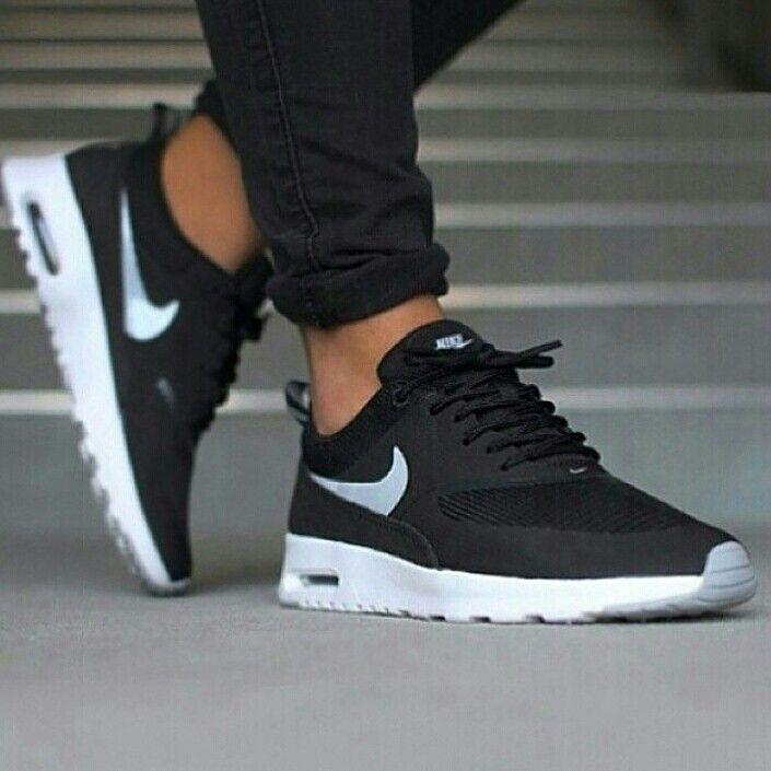 online retailer 24d92 8711e Nike Air Max Thea black white   Fashion in 2019   Nike shoes, Running shoes  nike, Sneakers nike