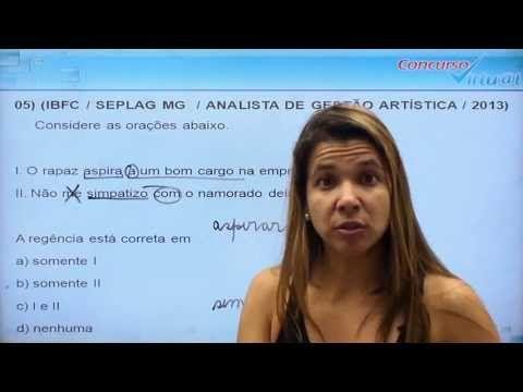 ▶ Língua Portuguesa - Maratona de Questões IBFC - Professora Grasiela Cabral - Vídeo 01 - YouTube