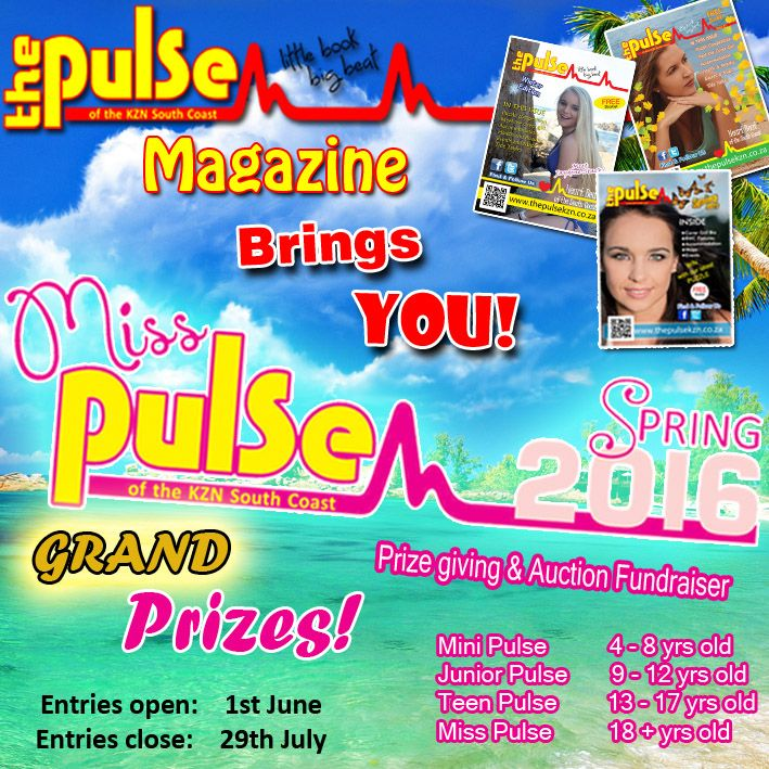 Miss Pulse beauty pageant Sat 27 August @ 1:00pm READ MORE #BeautyPageant #KZNSouthCoast @PulseofKZN