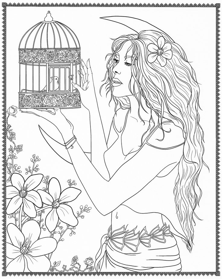797 best beautiful women coloring pages for adults images Coloring books for adults on amazon
