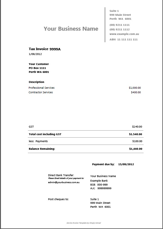 13 best Invoices images on Pinterest Branding design, Fairytail - invoice sample australia