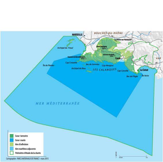 Carte Parc national des Calanqes