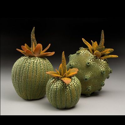 I always love seeing this artist! The glaze is unique and his forms have a natural and alien quality to them. I have seen him at the Festival of the Masters and at Mayfaire in Lakeland.   William Kidd Ceramics