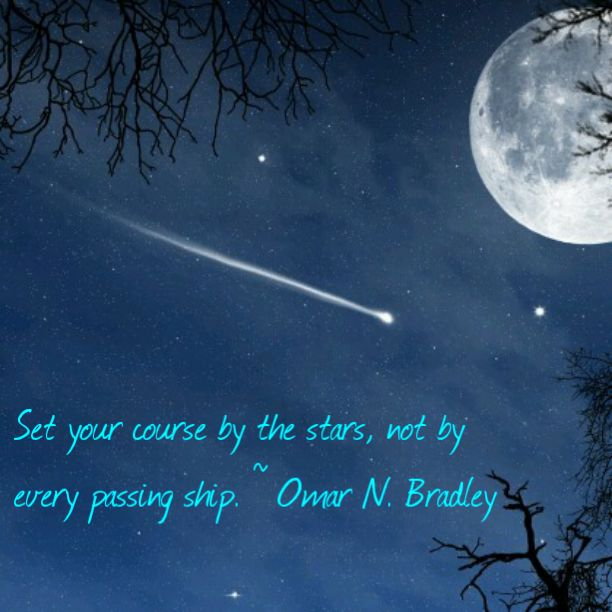 """""""Set your course by the stars, not by every passing ship."""""""