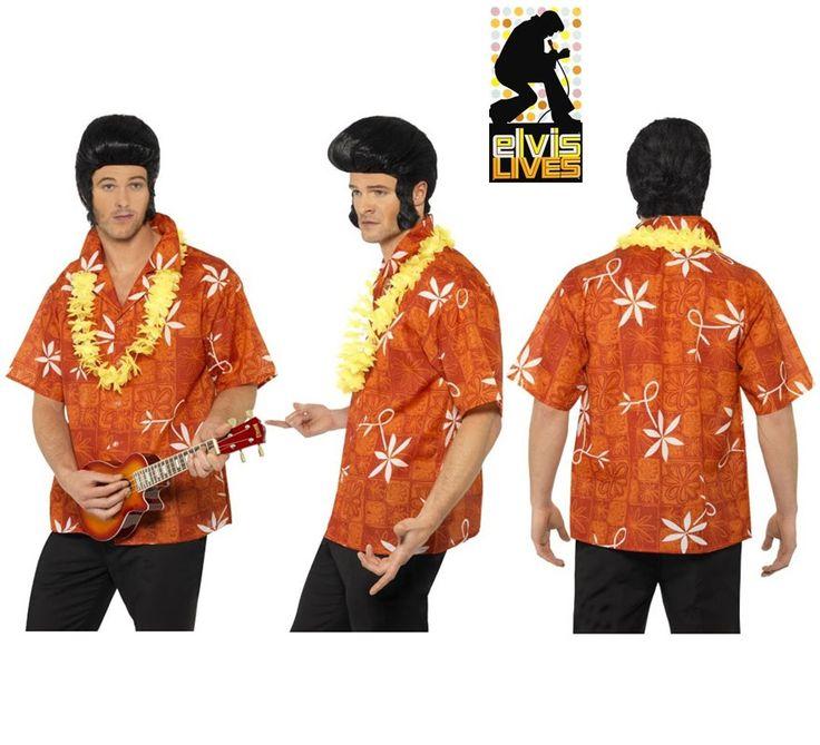 Camisa #Hawiana de #Elvis con Collar para Hombre en varias tallas.  #fiestahawaiana  #hawai #hawaii #verano