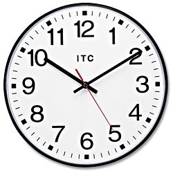 "Traditional Wall Clock - 12"" H-1436"